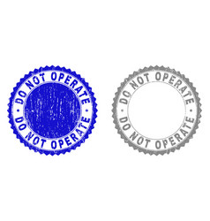 Grunge do not operate textured watermarks vector