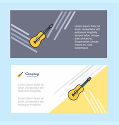 guitar abstract corporate business banner vector image