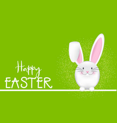 happy easter background with bunny vector image