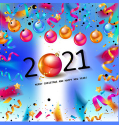 happy new year 2021 confetti banners vector image