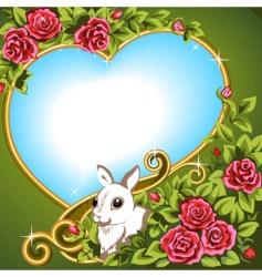 Heart rose vector