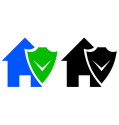 house shield icon vector image