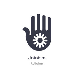 Jainism icon isolated icon from religion vector