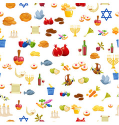 Jewish holiday hanukkah seamless background vector