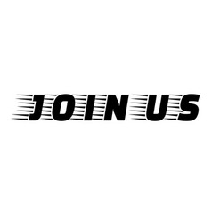 Join us stamp vector