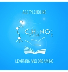 Learning and dreaming concept Acetylcholine vector image