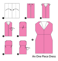 Make origami a one piece dress vector