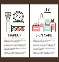 Makeup and skin care posters vector