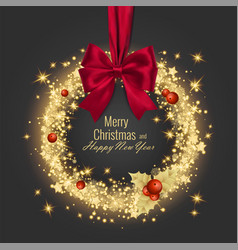 merry christmas and happy new year 2018 greeting vector image