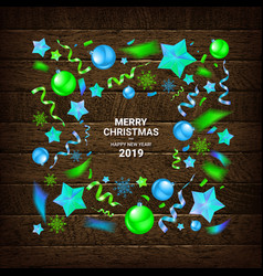 Merry christmas and new year 2019 vector