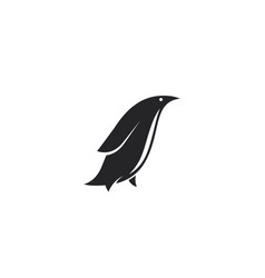 minimalistic penguin logo design black side view vector image