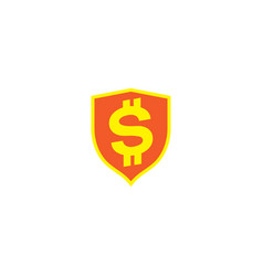 money secure logo protect save currency vector image