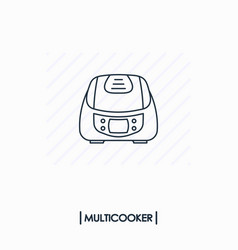 Multicooker outline icon isolated vector