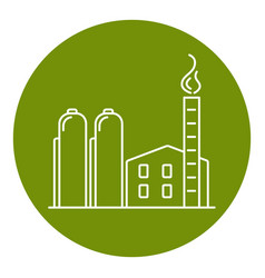 Natural gas plant icon in thin line style vector