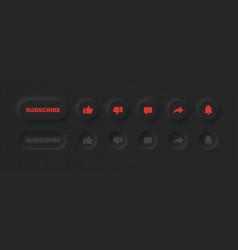 neumorphic ui ux design elements 3d youtube vector image