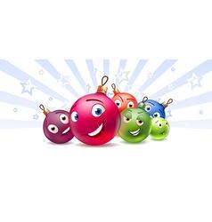 New Years balls Cartoon characters vector