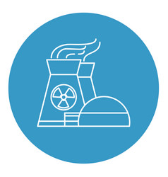 nuclear power plant icon in thin line style vector image