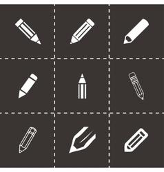 pencil icon set vector image
