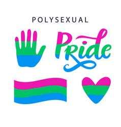 Polysexual movement pride symbols vector