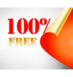 Promotion free coupon vector
