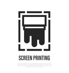 Screen printing thin line icon vector