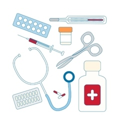 Set of medical icon vector
