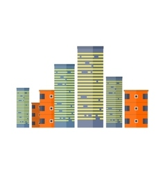 Skyscrapers and Buildings Asian Multistorey House vector