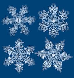 snowflakes set graphic snowflakes vector image