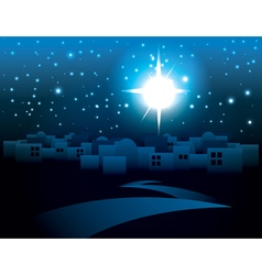 Starry Night Bethlehem Religious Christmas Theme vector