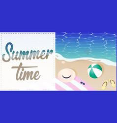 Summer time sea vector