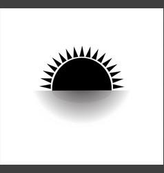 sunset and sunrise logo vector image