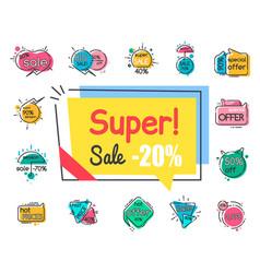 Super sale 20 percent off low price promo banner vector
