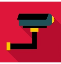 Surveillance camera icon flat style vector