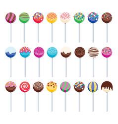 Sweet candy lollipops vector