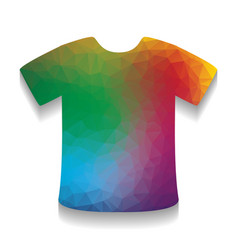 t-shirt sign colorful icon with bright vector image
