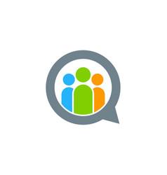 talk people logo icon design vector image