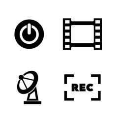 Television tv simple related icons vector