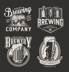 Vintage beer logotypes vector
