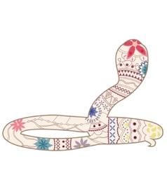 Vintage snake vector image
