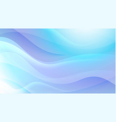 Wavy soft blue abstract background vector
