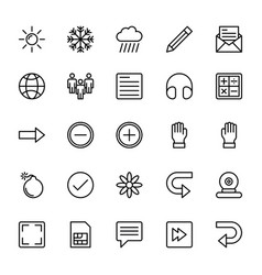 Web and mobile ui line icons 3 vector