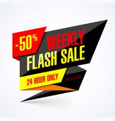 weekly flash sale banner vector image