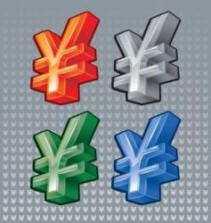 Yen sign vector