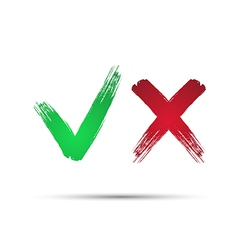 Yes and No check marks4 vector image