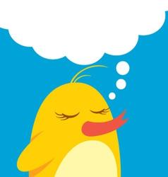 cute bird with bubble speech vector image vector image