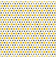 Gold and black dots on white background Seamless vector image vector image