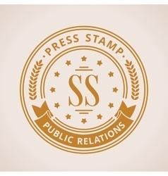 Stamp calligraphic design logo Luxury vector image vector image