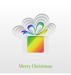 Creative Christmas Gift Greeting Card vector image