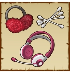 Household items girls computer and accessory vector