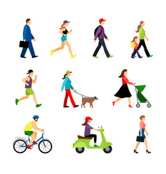 people in city isolated on white background men vector image vector image